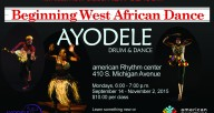 Ayodele Intro to African Dance Class at the ARC