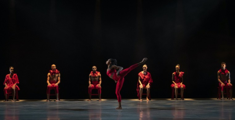 "Ailey II in Andrea Miller's ""Psukhe."" Photo by Nir Arieli"