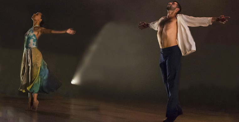 """Cerqua Rivera dancers Briana Arthur and Fernando Rodriguez performing Wilfredo Rivera's """"American Catracho"""" in 2019. The company will revisit this work as part of a dual live and live-streamed performance series this fall."""