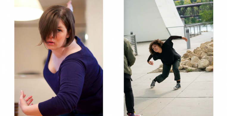 "Maggie Bridger (left, photo by Shawn Guiney) and Rahila Coats (right, photo by Bill Cameron) will create new choreography for Synapse Arts. They join a long list of ""New Works"" alumni to have worked on the 10+ year initiative."