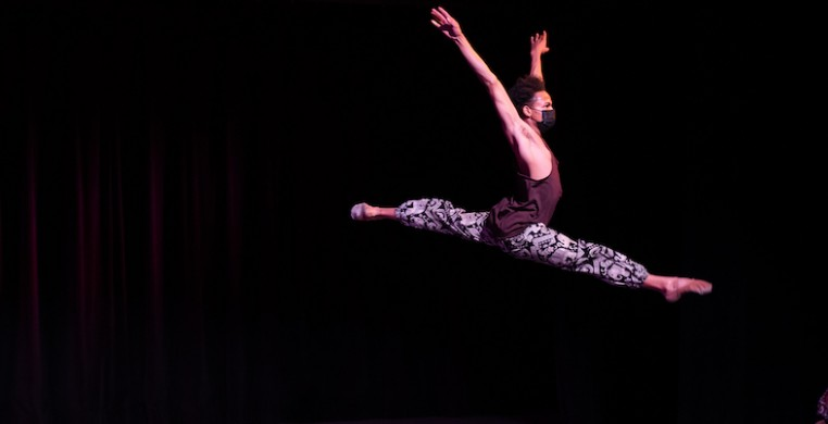 South Chicago Dance Theatre presented its third annual Black History Month performance virtually, with strong performances anchored by text from Dr. Martin Luther King, Jr. and Langston Hughes. (photo by Michelle Reid)