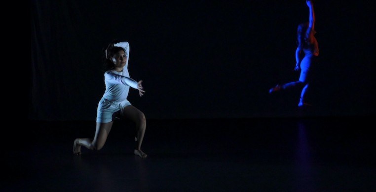 "Loyola dancer Naomi Alvarado in a screen shot from ""Mic Check 1.2,"" a film by dance and biology major Masha Bandouil. The film premieres as part of the University's fall virtual dance concert."