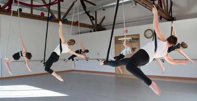 Aerial Dance Chicago offers classes in aerial arts and dance for students of all ages and all levels.