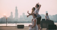 House of DOV gave their inaugural Chicago performance outside Adler Planetarium. Photo by Michelle Reid.