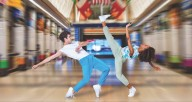 """Joffrey dancers Edson Barbosa and Dara Holmes perform in Justin Peck's """"The Times Are Racing."""" Photo by Cheryl Mann"""