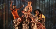 "Johannesburg, SA company Moving into Dance Mophatong performs Robyn Orlin's work ""Beauty remained for a moment and then returned gently to her starting position"" (shown above) as part of the digital JOMBA! festival. Photo courtesy of the artist."