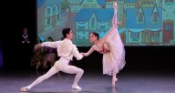 "Miu Tanaka and José Pablo Castro Cuevas performing in ""Coppelia,"" Photo by Matt Glavin"