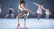 "Same Planet Performance Project's Michelle Giordanelli (center) in ""Bad Bunny"", photo credit Vin Reed"