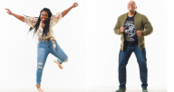 Starinah Dixon (left) and M.A.D.D. Rhythms artistic director Bril Barrett (right) are just two of the all-star faculty teaching master classes at the Chicago Tap Summit. The festival includes a panel discussion, online tap jam and virtual performance.