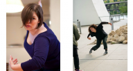 """Maggie Bridger (left, photo by Shawn Guiney) and Rahila Coats (right, photo by Bill Cameron) will create new choreography for Synapse Arts. They join a long list of """"New Works"""" alumni to have worked on the 10+ year initiative."""