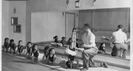 Tommy Sutton teaching tumbling at Mayfair Academy (handout/Mayfair Performing Company)