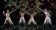 """Alvin Ailey American Dance Theater performing in Jamar Roberts' """"Ode,"""" part of the company's March presentation at the Auditorium Theatre. Photo by Paul Kolnik"""