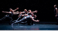 """Hubbard Street Dance Chicago in """"Solo Echo"""" by Crystal Pite (Photo By Todd Rosenberg)"""