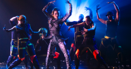 """Chicago Dance Crash in """"The Bricklayers of OZ"""" (photo by Ashley Deran)"""