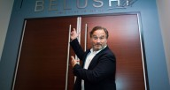 Jim Belushi at the official unveiling of the Belushi Performance Hall.